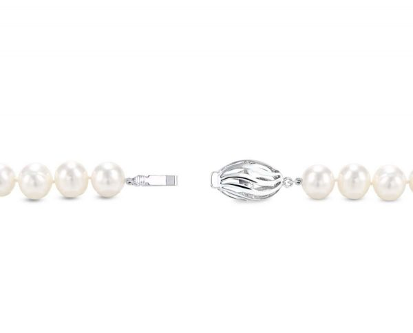 Skinny Oval Pearl Necklace Clasp