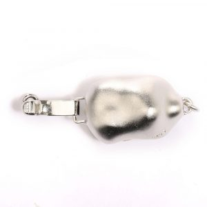small baroque silver bracelet clasp