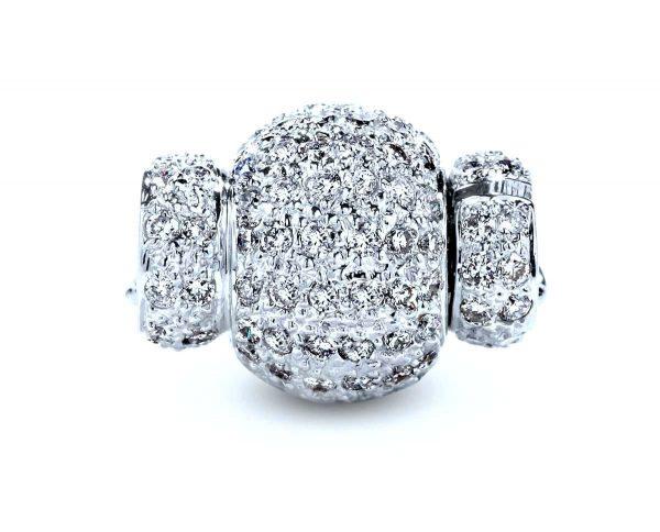 Small Diamond Rondel Ball Necklace Clasp