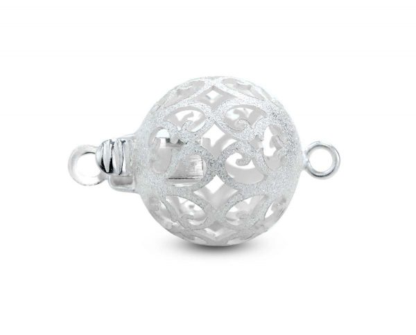 Small Floating Silver Ball Clasp