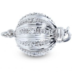Large Lightweight Diamond Ball Necklace Clasp