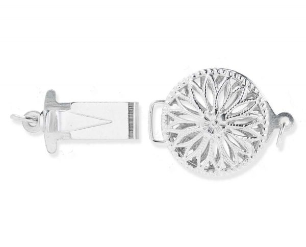 Sterling Silver Flower Clasp for Pearl Jewelry