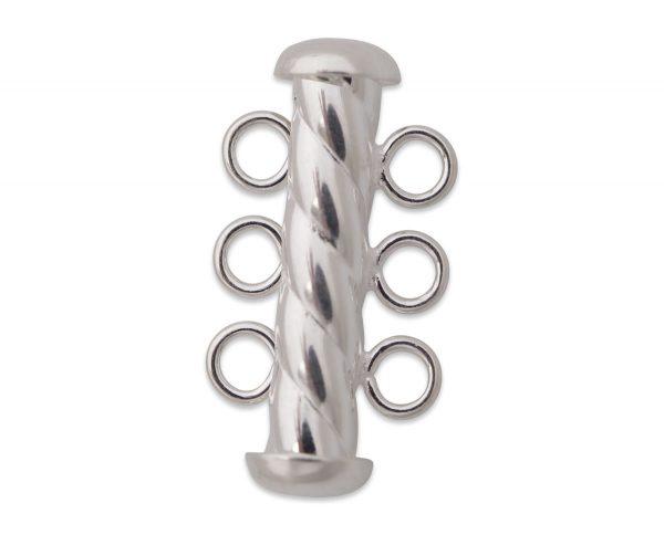 Sterling Silver Spiral Rod Bracelet Clasp
