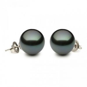 9 - 9.5 mm Tahitian Pearl Earrings