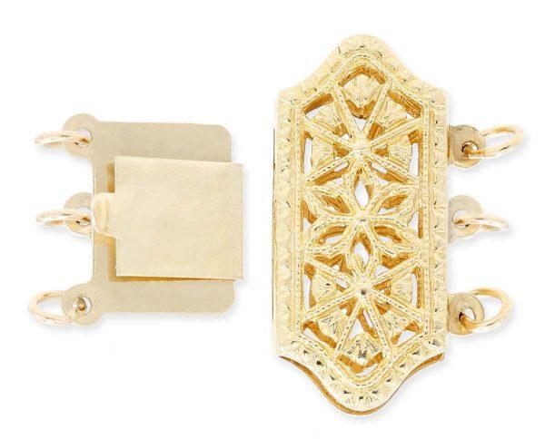 Filigree Clasp for Triple Strand Bracelet