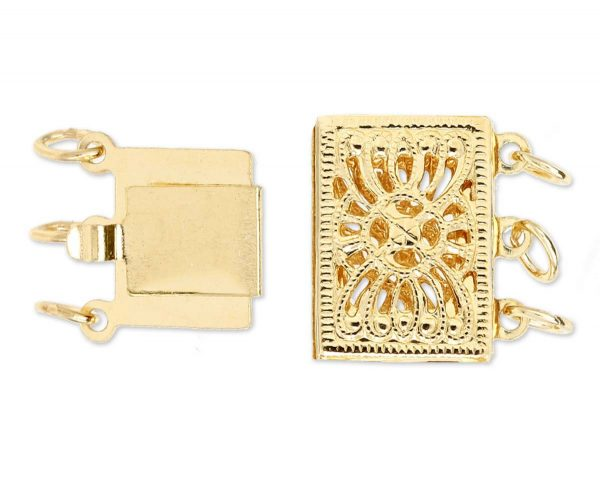 Triple Strand Bracelet High Filigree Clasp