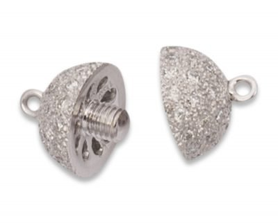 10 mm Center Screw Diamond Ball Necklace Clasp