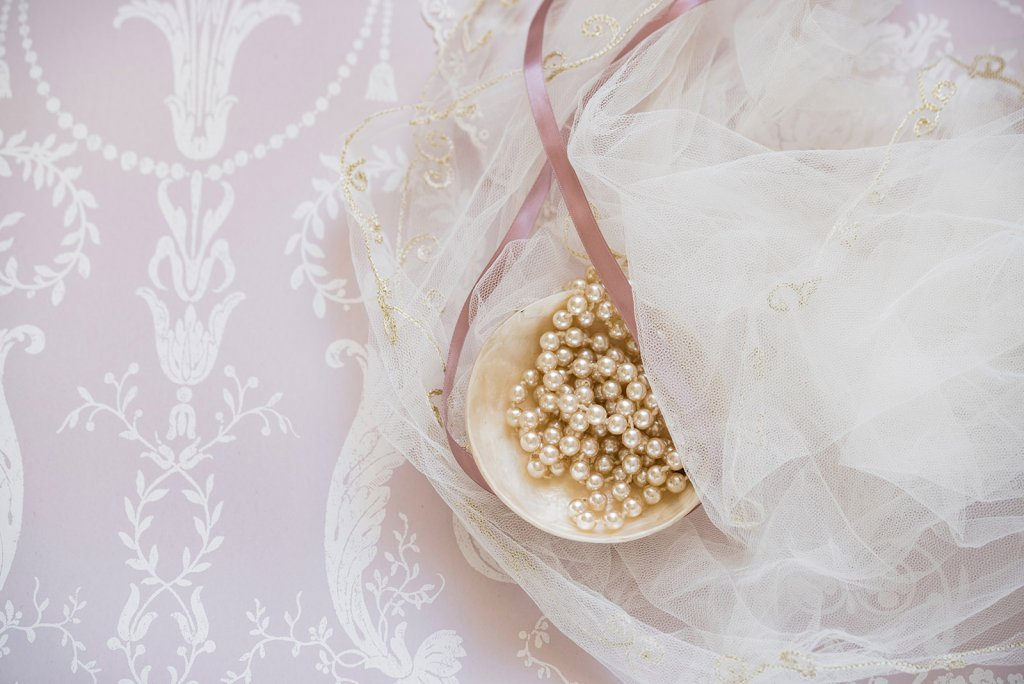 pearls with lace